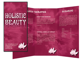 Holistic Beauty 6 page DL leaflet
