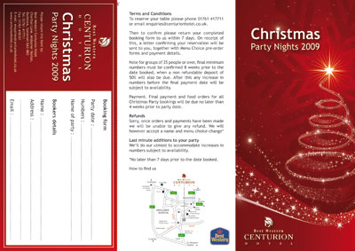 Optical Design & Print - Cenurion Christmas Leaflet