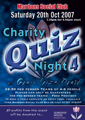 Optical Design & Print - Charity Quiz Poster